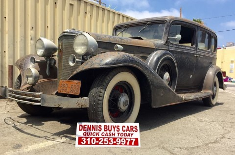 1933 Cadillac V8 Sedan Extreme BARN FIND for sale