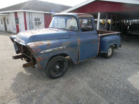 1958 Chevrolet Apache big Window barn find Project truck for sale