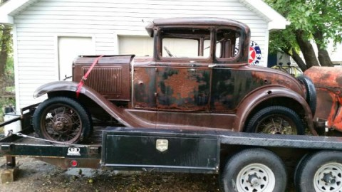 1930 Ford Model A Five Window Coupe Hot Rod Rat Barn Find Patina for sale