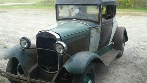 1931 Ford Model A Coupe Banger SCTA Barn Find Patina for sale