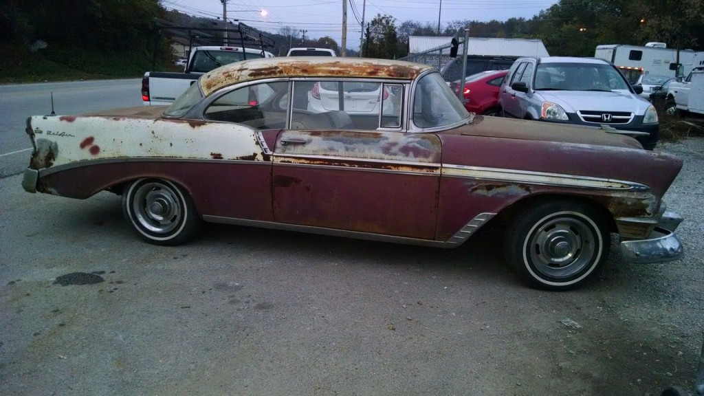 """1956 Chevy BEL AIR with Continental KIT """"barn find"""""""