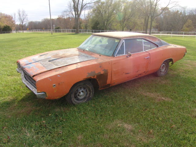 1968 Dodge Charger barn find numbers matching big block