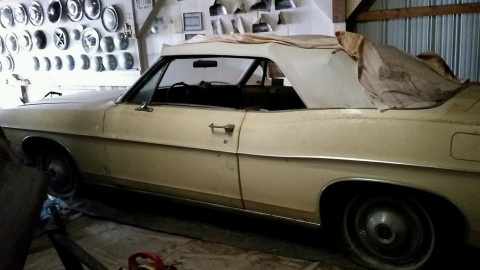1968 Ford Galaxie Convertible barn find for sale