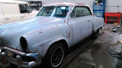 1952 Studebaker Commander Hardtop barn find project for sale