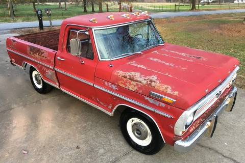 "1969 Ford F 100 390 Ranger ""patina"" Barn Find for sale"