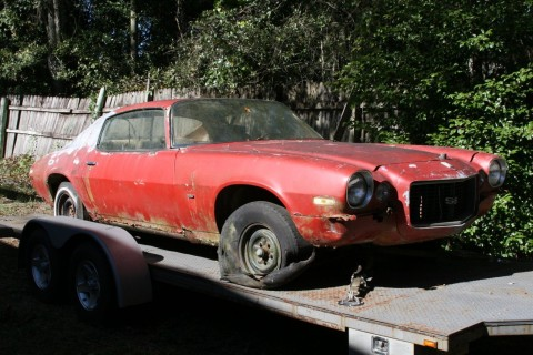 1970 1/2 Split Bumper Chevy Camaro SS 350 4 Speed Project barn find 12 bolt for sale