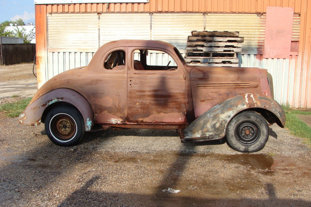 1936 plymouth deluxe 5 window coupe barn find for sale