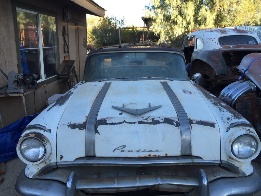 1956 pontiac star chief convertible barn find for sale for 1956 pontiac 4 door hardtop