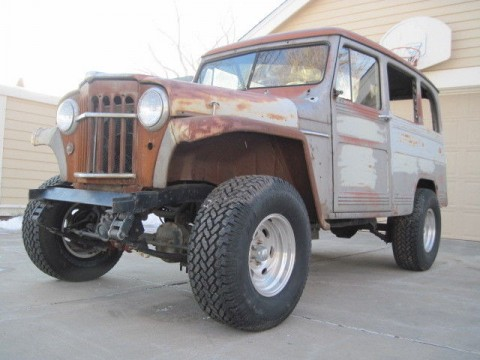 1956 Willy's Jeep Wagon 4×4 Truck Barn Find for sale