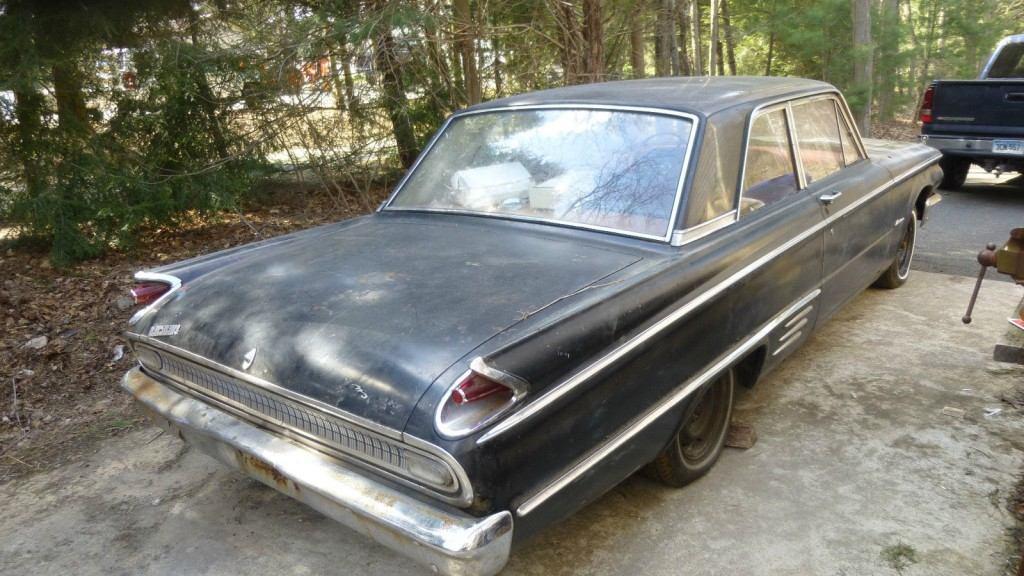 1962 Mercury Meteor 2dr Sedan Black Rust Free Barn Find