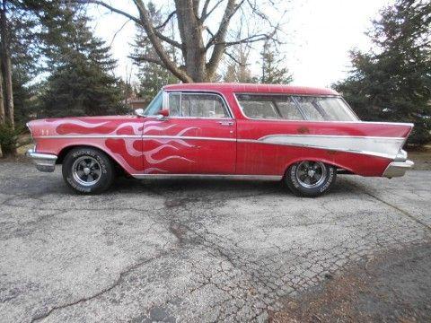 1957 Chevrolet Bel Air Nomad Barn Find 1970's Custom Show Car Driver La Machine! for sale