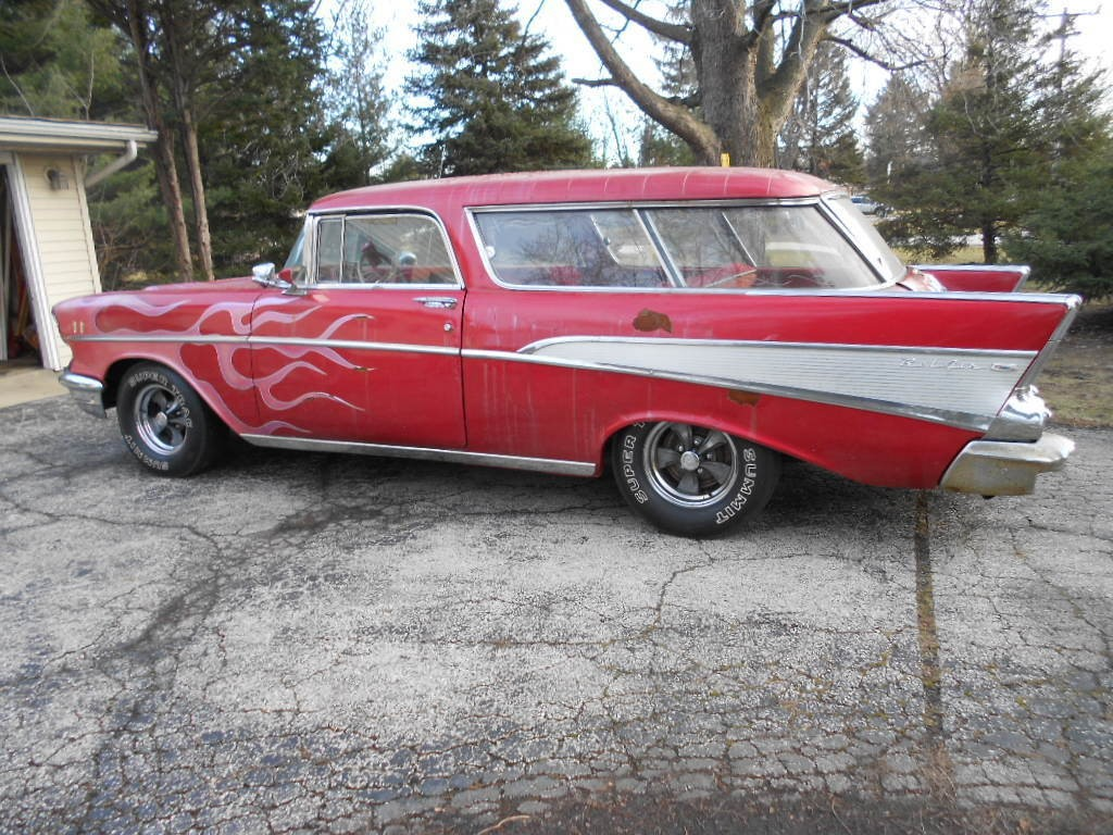 1957 Chevrolet Bel Air Nomad Barn Find 1970's Custom Show Car Driver La Machine!