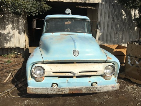 1956 Ford F 100 short bed barn find for sale