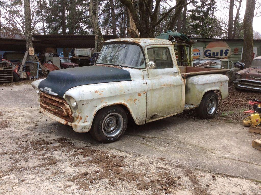 1957 chevrolet pickup 3100 half ton short bed barn find for sale. Black Bedroom Furniture Sets. Home Design Ideas