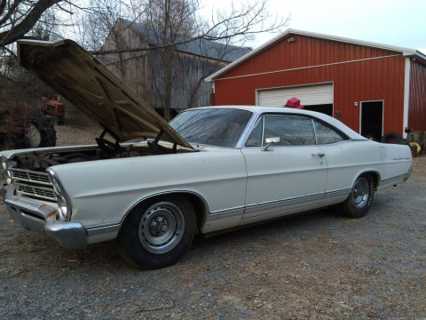 1967 Ford Galaxie 500 2 Door Barn Find Straight Body Complete Runs and Drives for sale