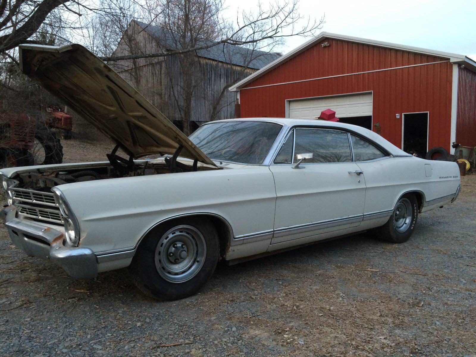 1967 Ford Galaxie 500 2 Door Barn Find Straight Body