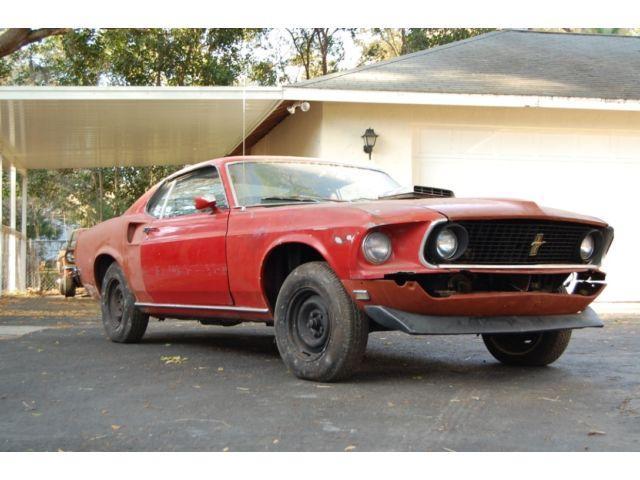 1969 ford mustang mach 1 428 cobra jet barn find survivor for sale. Black Bedroom Furniture Sets. Home Design Ideas
