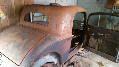 1934 Chevrolet 3 Window Coupe barn find for sale