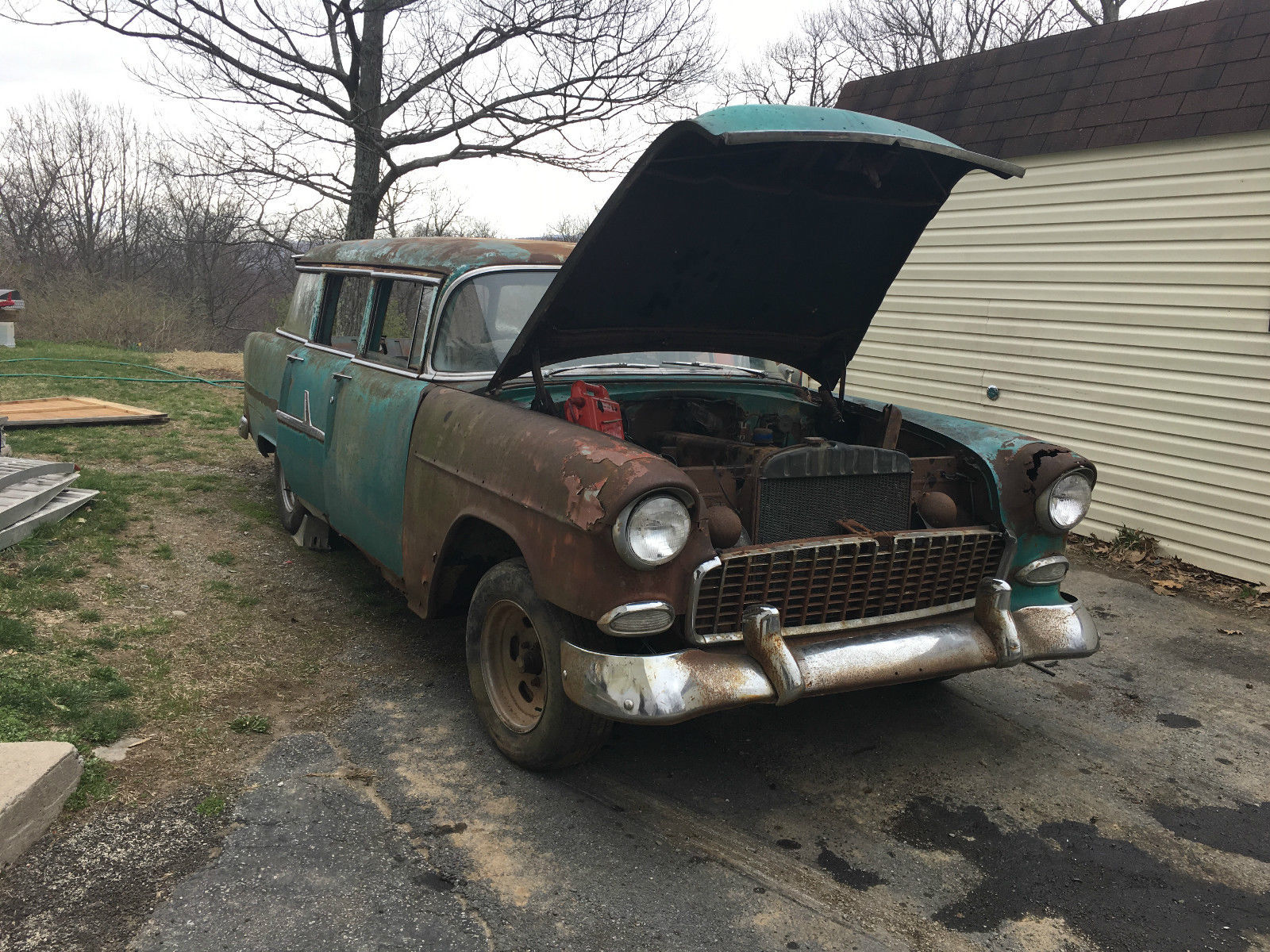 1955 Chevrolet 4 Door Wagon Stick Barn Find Project for sale