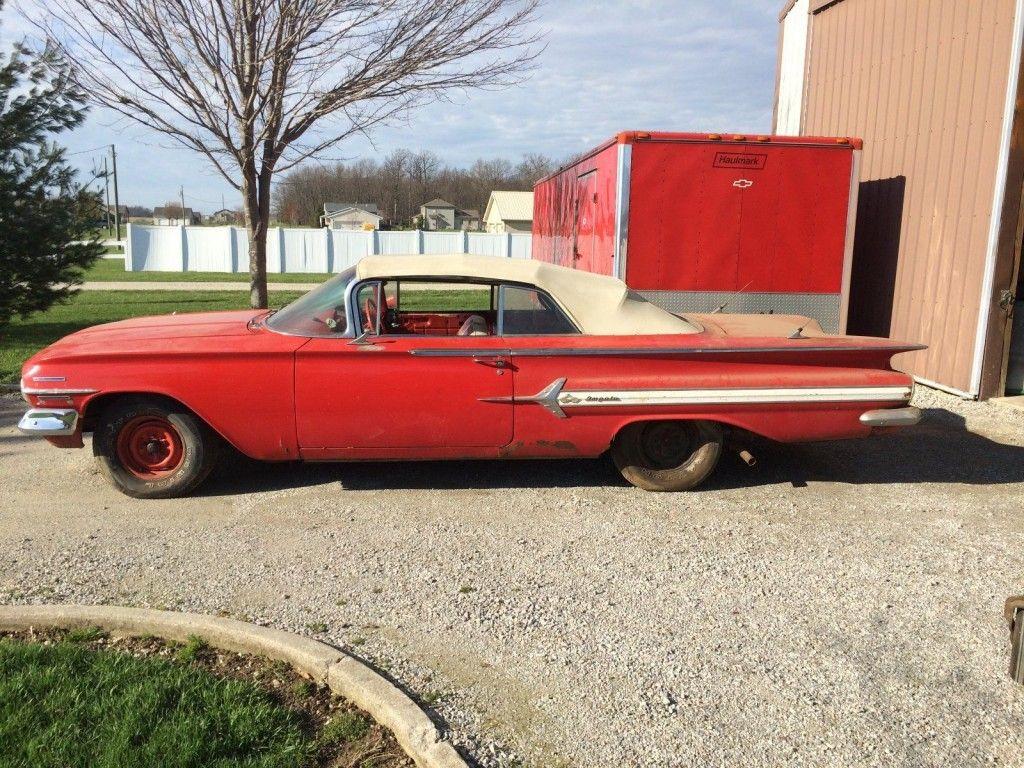 1960 chevrolet impala bbc 348 convertible barn find for sale. Black Bedroom Furniture Sets. Home Design Ideas