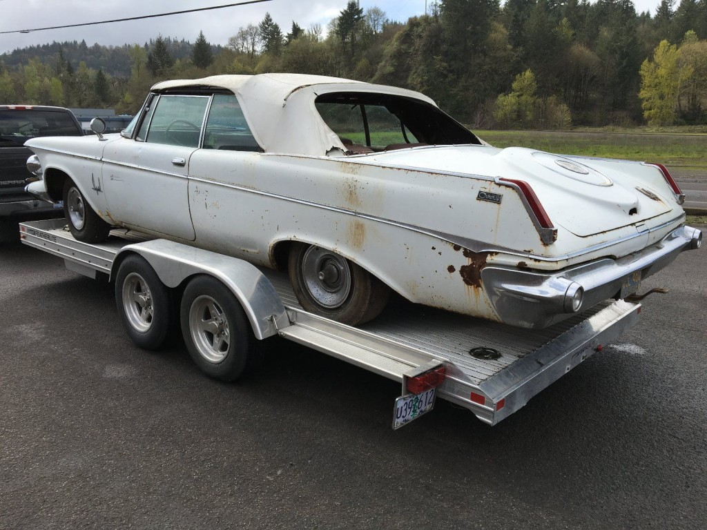 1963 Chrysler Imperial Crown Convertible Barn Find