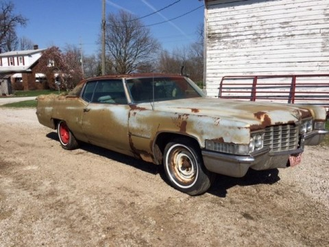 1969 Cadillac Coupe DeVille barn find for sale