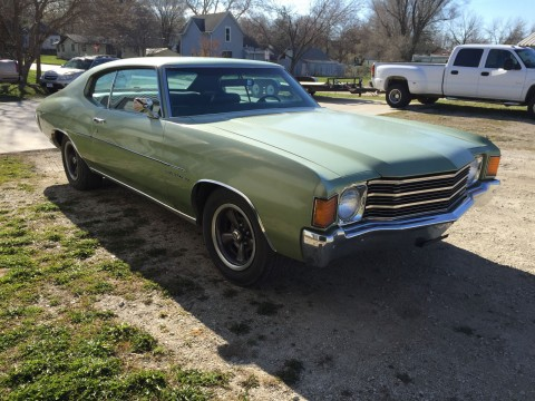 1972 Chevrolet Chevelle Malibu 350 2 door Sport Coupe barn find for sale