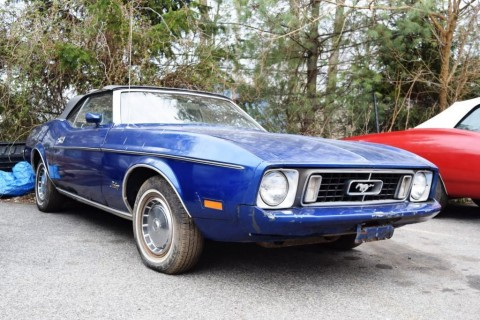 1973 Ford Mustang Convertible barn find for sale