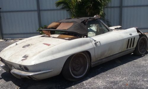 1966 chevrolet corvette project car barn find for sale for Motor city barn finds