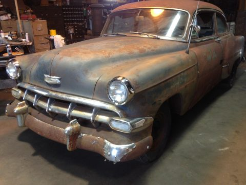 1954 Chevy Belair 2 Door Barn Fresh Project Rat Rod (rust and patina) for sale