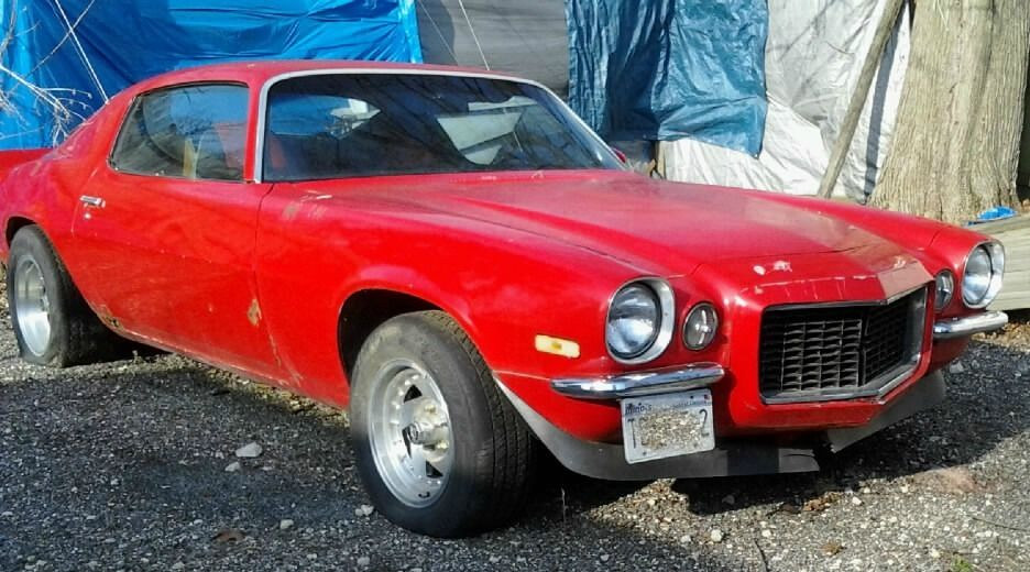 1972 Chevrolet Camaro Split Bumper RS Package Barn find