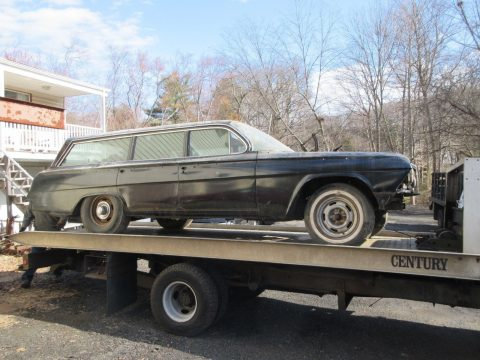 1962 Chevrolet Impala Wagon barn find project for sale