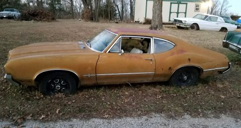 1970 Oldsmobile Cutlass Rare F85 post Manual Floor Shift barn find for sale