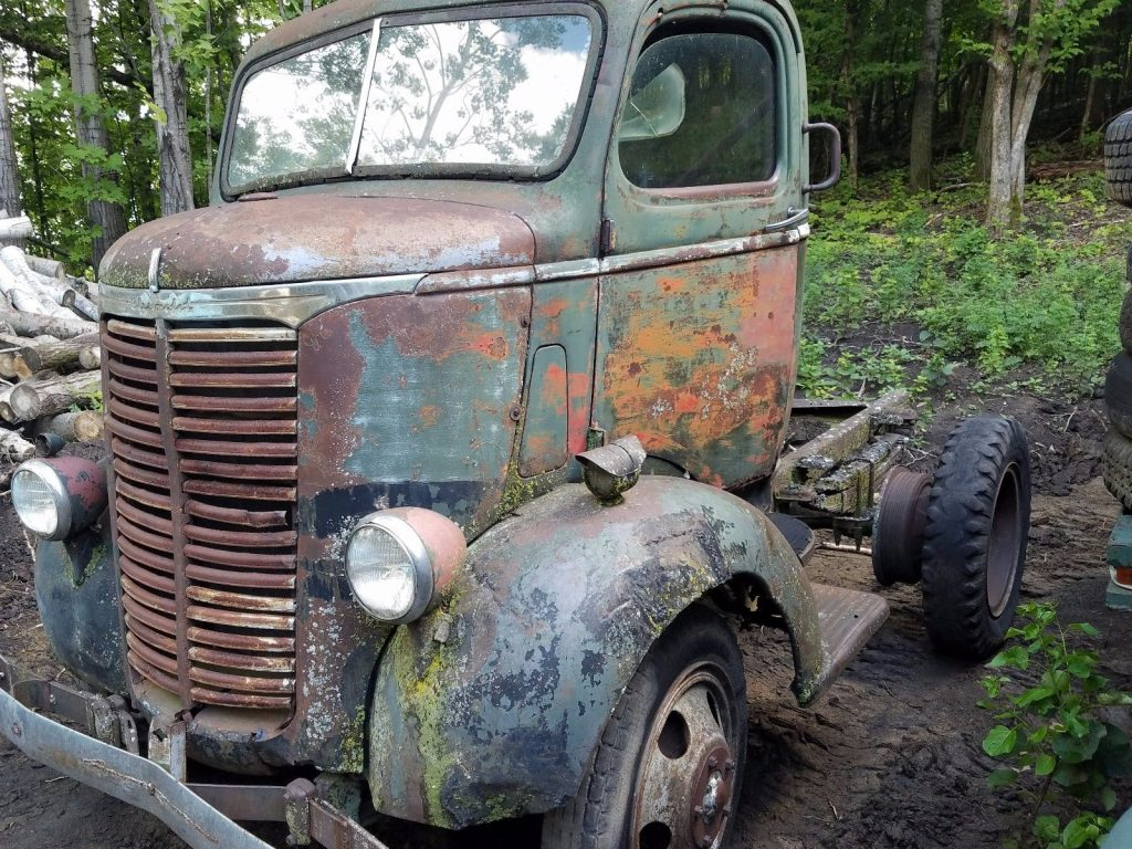 Barn find 1940 Chevy Coe Cabover Stubnose Truck Project