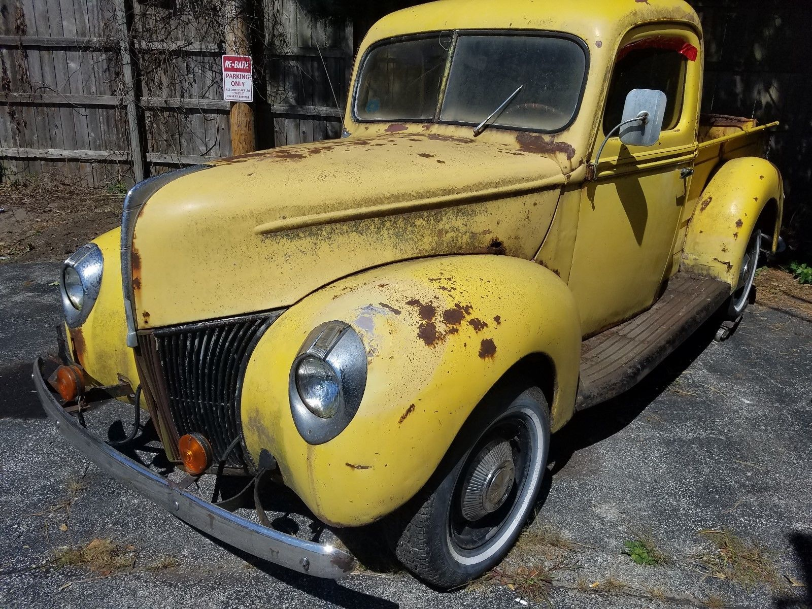 1 Owner 1940 Ford Pickup Truck Barn Find Project For Sale