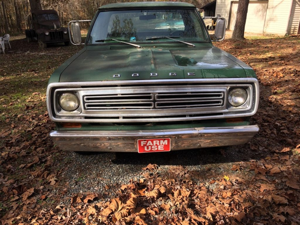 1973 Dodge D100 Custom Picku up Truck Barn find survivor