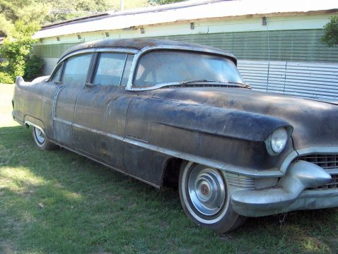 restoration project 1955 Cadillac Sedan DeVille barn find for sale