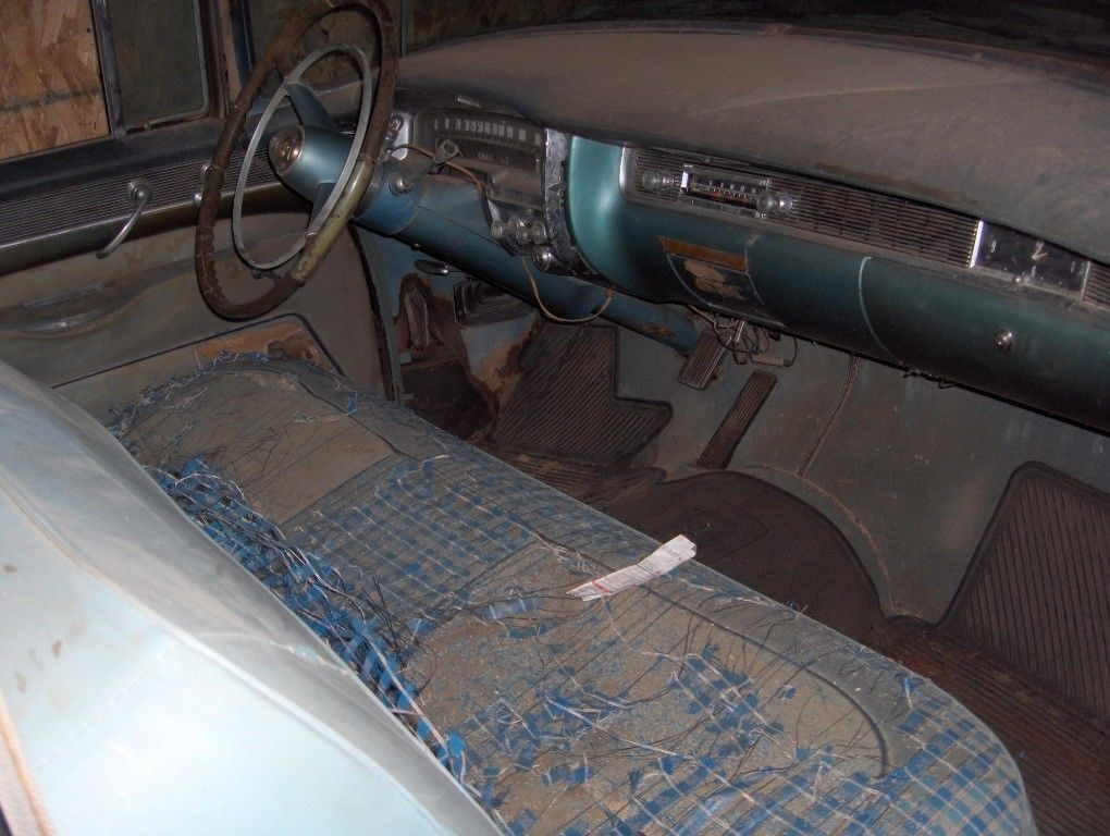 restoration project 1955 Cadillac Sedan DeVille barn find