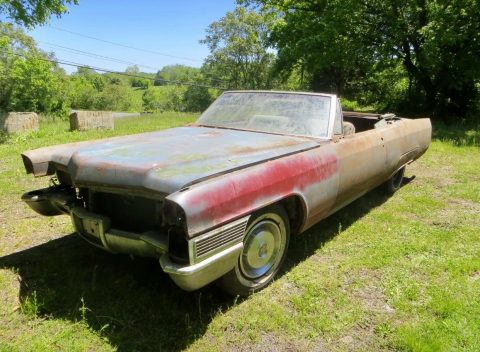 Rusty 1965 Cadillac Deville Series 62 Solid barn find for sale