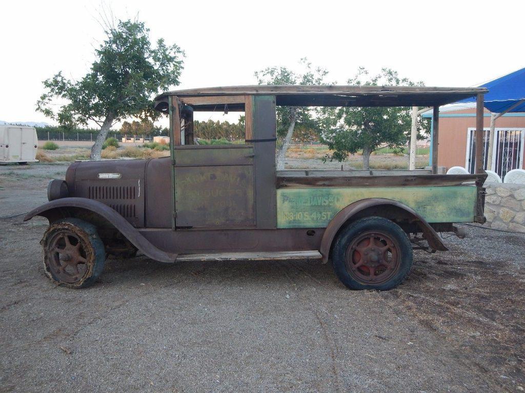 1929 Buddy Stewart Model 21 Canopy Produce Truck Barn Find