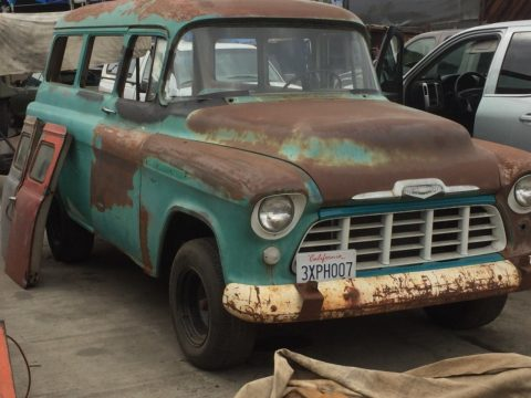 1956 Chevy Suburban Carryall barn find for sale