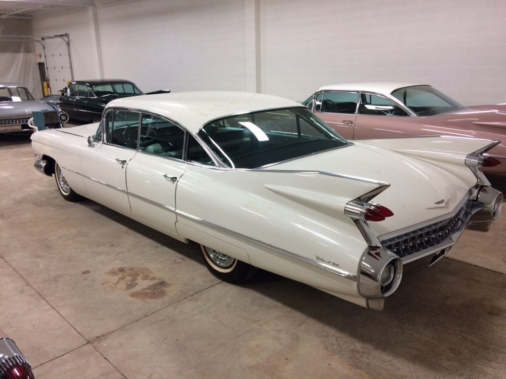 1959 Cadillac Sedan Deville 15,000 Miles barn find loaded