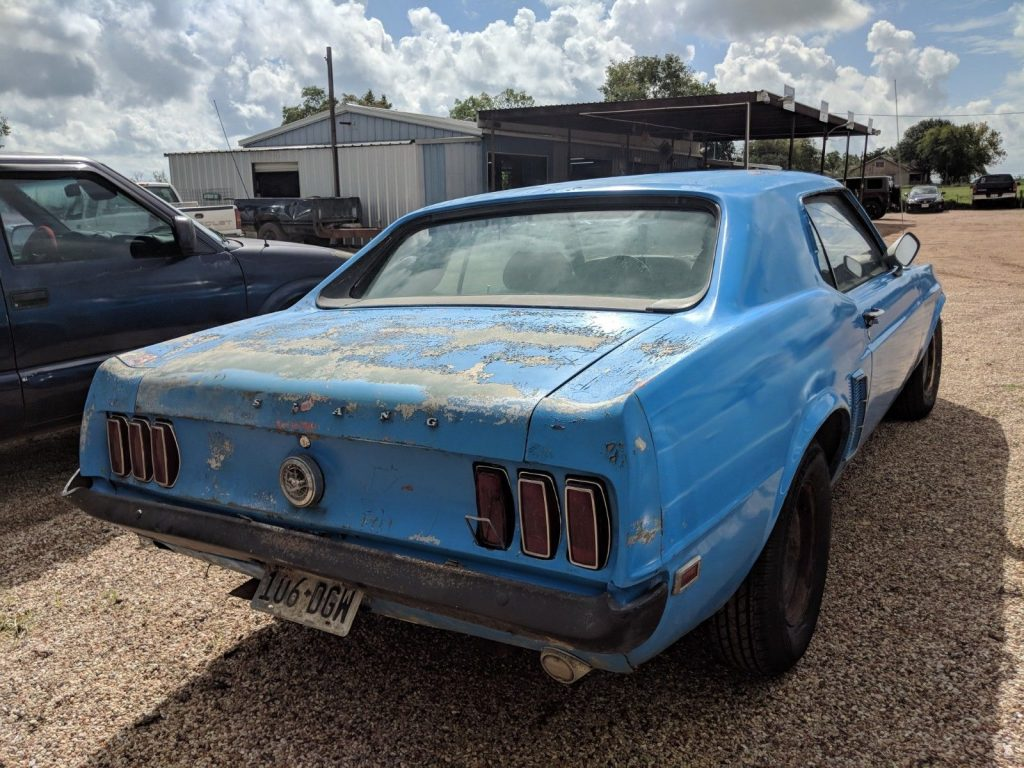 1969 Ford Mustang Hardtop 351 V-8 4-bbl. Cruise-O-Matic Barn Find