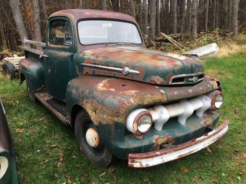 1951 Ford F1 Pickups rat rod patina barn find for sale