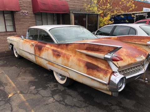 1959 Cadillac Coupe Deville Barn Find !! Great Color Combo for sale