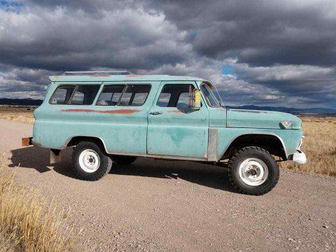 1965 GMC Suburban Custom Rare Factory 4×4 barn find survivor for sale