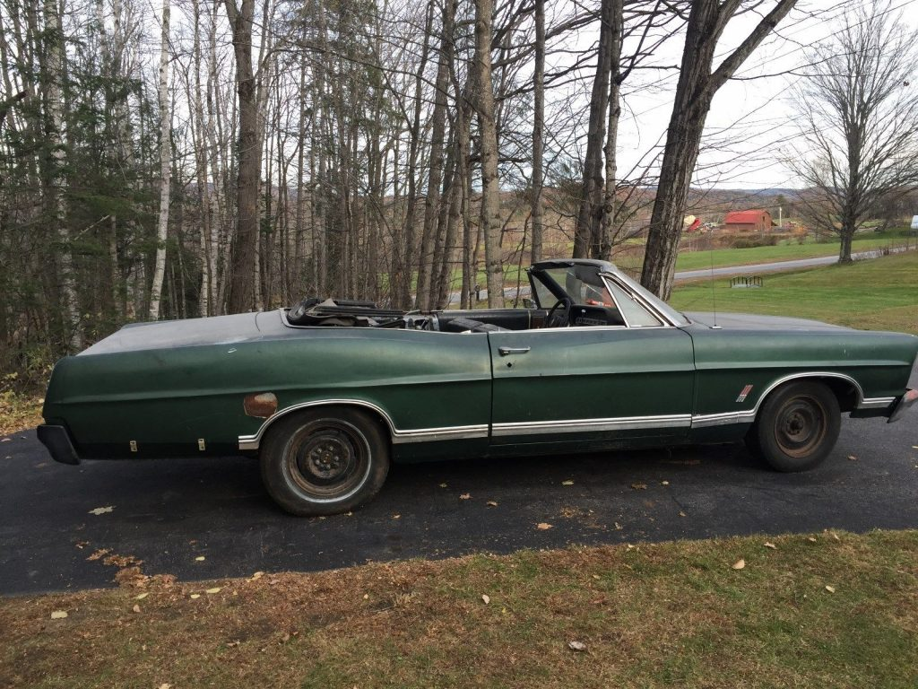 1967 Ford Galaxie Convertible Barn find