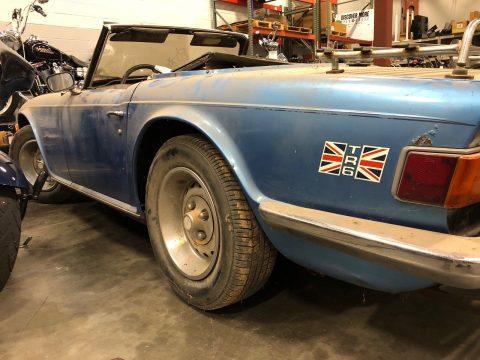 1976 Triumph TR6 barn find for sale
