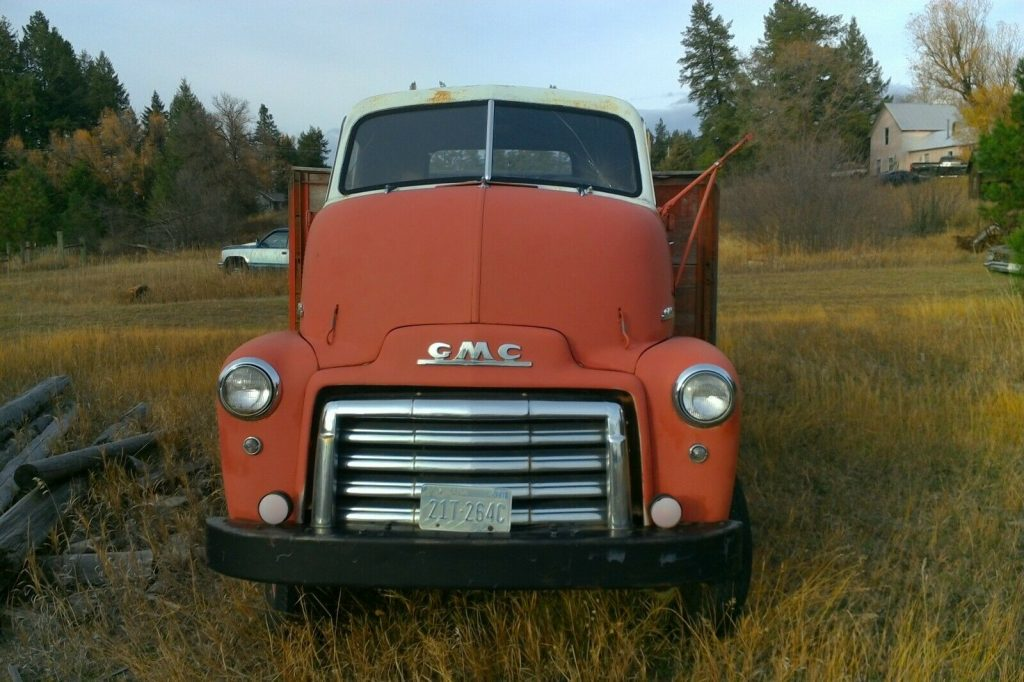 1948 GMC Coe Cabover Truck Original farm / barn find Solid Stubnose flatbed