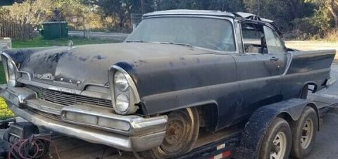 1957 Lincoln Premiere Convertible Barn Find for sale